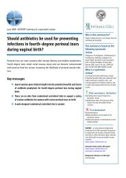 Should antibiotics be used for preventing infections in fourth-degree ...