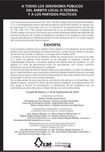 EXHORTA - Instituto Electoral del Distrito Federal