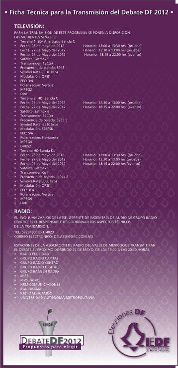 DEBATEDF2012 - Instituto Electoral del Distrito Federal