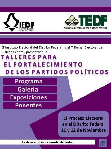 11 y 12 de Noviembre - Instituto Electoral del Distrito Federal