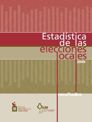 Estadística de las Elecciones Locales 2009 - Instituto Electoral del ...
