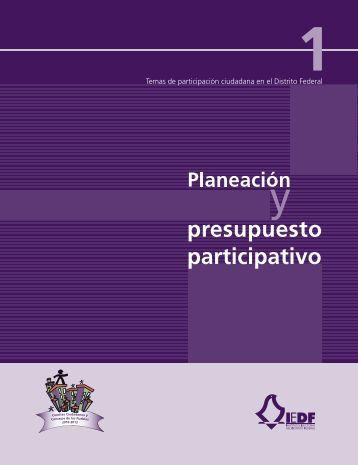 presupuesto participativo - Instituto Electoral del Distrito Federal