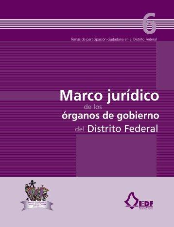 Marco jurídico - Instituto Electoral del Distrito Federal
