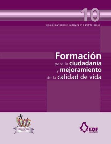 Formación para la ciudadanía y mejoramiento de la calidad de vida