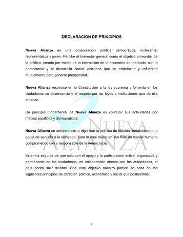 Declaración de Principios - Instituto Federal Electoral