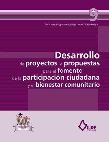 Desarrollo de proyectos y propuestas para el fomento de la ...