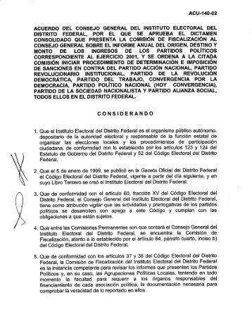 acuerdo del consejo general del instituto electoral del