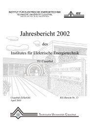 Jahresbericht 2002 - Institut für Elektrische Energietechnik - TU ...