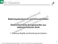 Batterien - TU Clausthal