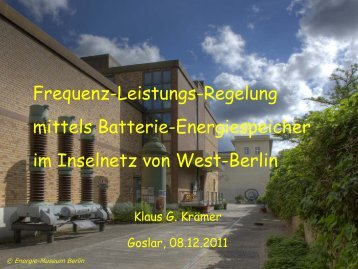 Frequenz-Leistungs-Regelung mittels Batterie-Energiespeicher im ...