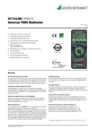 Datenblatt (pdf 178 kB) - GMC-I Messtechnik GmbH