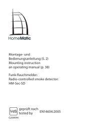 Montage- und Bedienungsanleitung (S. 2) Mounting ... - eQ-3