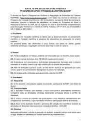 Bolsas IC - IEE/USP