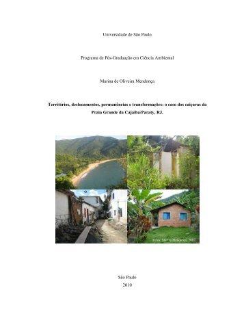 Territórios, deslocamentos, permanências e transformações - IEE/USP