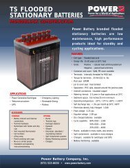 ts flooded stationary batteries monoblock construction - Ieeco.net
