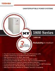 1800 Series Brochure - Toshiba