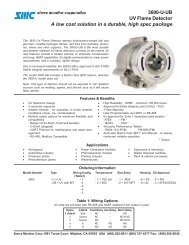 3600-U-UB UV Flame Detector A low cost solution in a ... - Ieeco.net