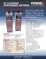 ts flooded stationary batteries single cell construction - ieeco