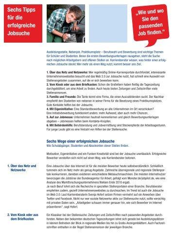 Sechs Tipps für die erfolgreiche Jobsuche