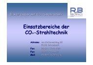 Einsatzbereiche CO 2 -Technik - Bonn Abfallwirtschaft