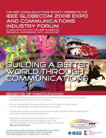 Learn How to Exhibit - IEEE GLOBECOM 2013