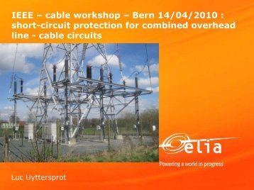short-circuit protection for combined overhead line - cable ... - IEEE.CH