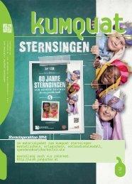 Im Materialpaket zum kuMquat Sternsingen - Dreikönigsaktion