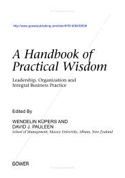 A Handbook of Practical Wisdom - Ashgate