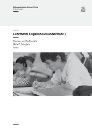Lehrmittel Englisch Sekundarstufe I - Bildungsdirektion - Kanton Zürich