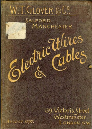 WT Glover, Electric Wire & Cables 1897