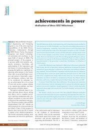achievements in power - IEEE Global History Network