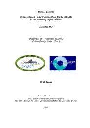 METEOR-Berichte Surface Ocean – Lower Atmosphere ... - OceanRep