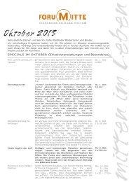 Das Programm im Oktober 2013 - Stadt Waiblingen