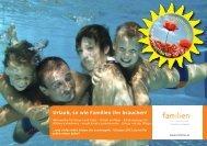 Sonnengelb Familienurlaube 2013 - Vorarlberger Familienverband