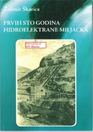 First century of HPP Miljacka