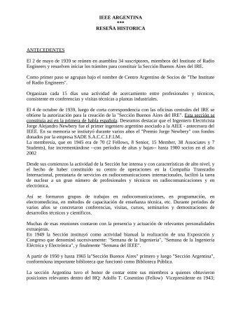 Historia del IEEE Argentina