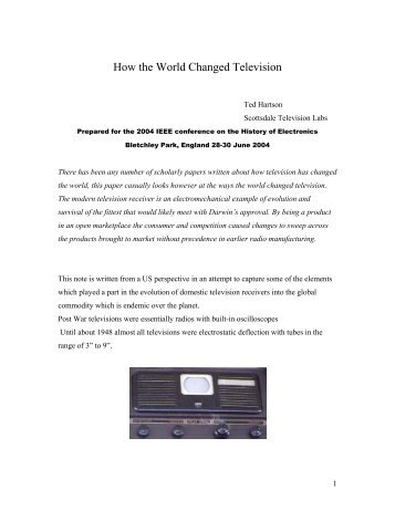 How the World Changed Television - IEEE Global History Network