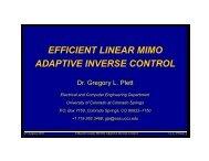 z - Dr. Gregory L. Plett's Homepage - University of Colorado Colorado
