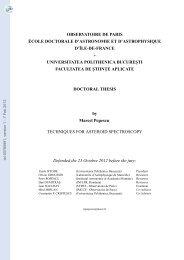 Techniques d'observation spectroscopique d'astéroïdes