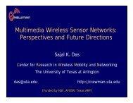 Multimedia Wireless Sensor Networks - LCN