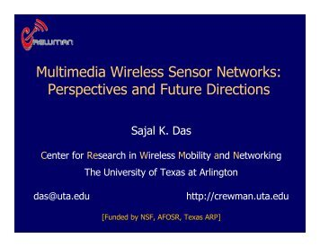 Multimedia Wireless Sensor Networks - LCN