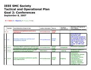 Conferences - IEEE Systems, Man, and Cybernetics Society