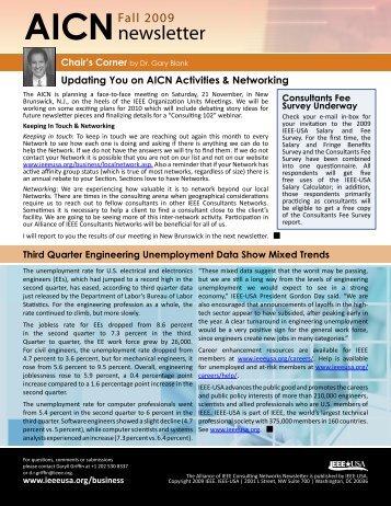 2009 Fall Newsletter - IEEE-USA