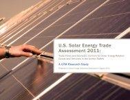 U.S. Solar Energy Trade Assessment 2011: Trade Flows and ...