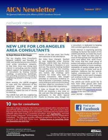 2011 Summer AICN Newsletter - IEEE-USA