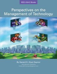 Perspectives on the Management of Technology - IEEE-USA