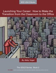 Launching Your Career: How to Make the Transition ... - IEEE-USA