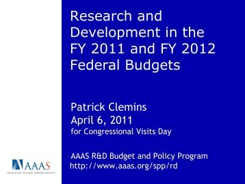 Research and Development in the FY 2010 Federal ... - IEEE-USA