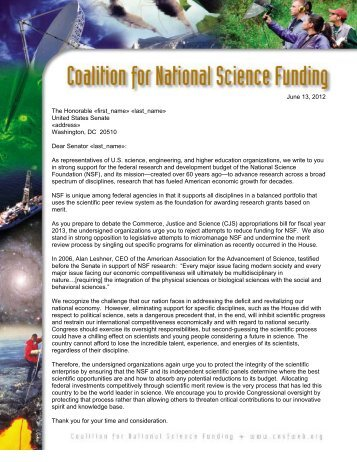 National Science Foundation R&D Budget - IEEE-USA