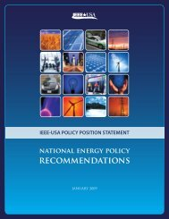 recommendations - IEEE-USA